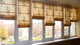 Рольшторы на пластиковые окна на балконе