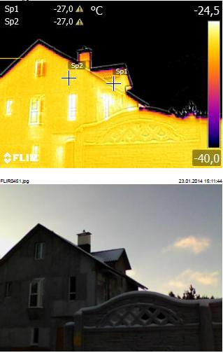 Тепловизионное обследование зданий и сооружений- частного дома