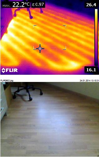 """Тепловизионное обследование зданий и сооружений. теплый пол """"глазами"""" тепловизора"""