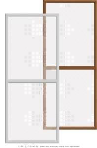 Рамочные москитные сетки на двери