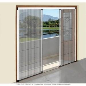 Раздвижные москитные сетки на двери