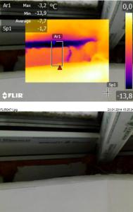 Выявление утечек тепла через окна. Обследование тепловизором квартиры и дома.