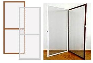 Дверные москитные сетки: белые и коричневые