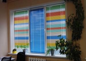 Варианты комбинирования цветов горизонтальных жалюзи (цветных)