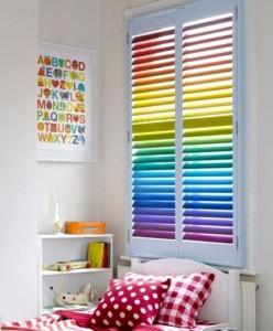 Жалюзи горизонтальные с комбинированием цвета