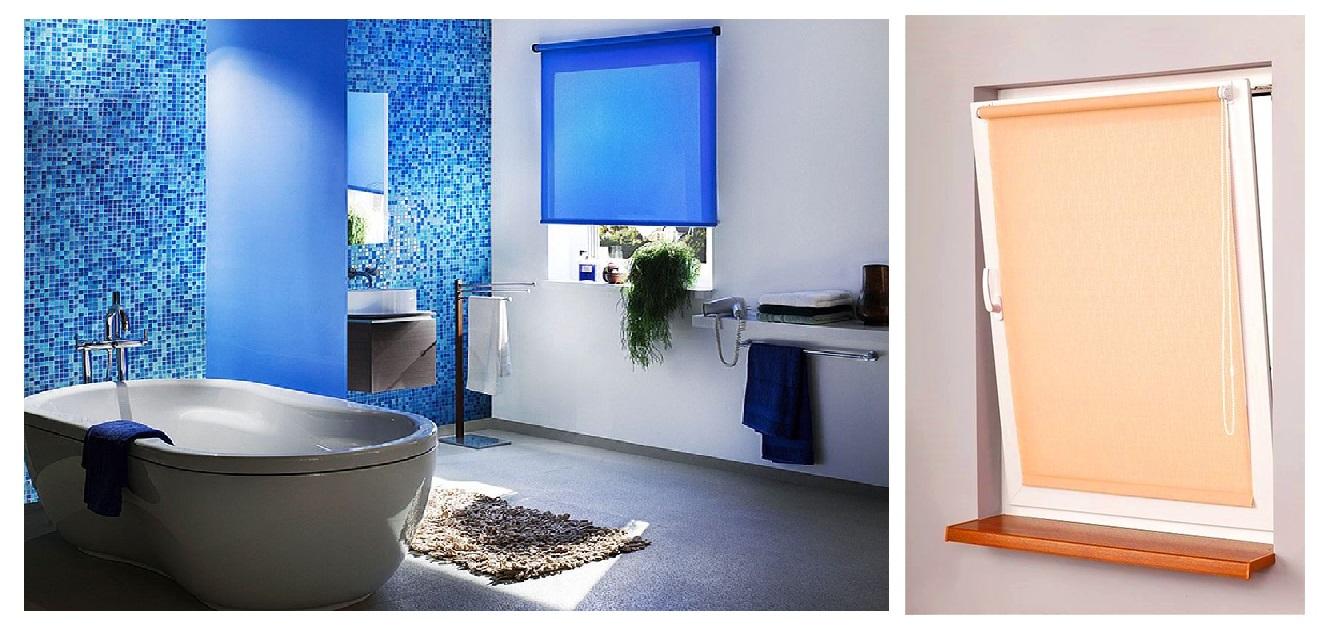 фото рольшторы в туалете и ванной комнате